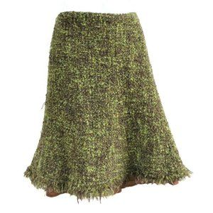 Cynthia Steffe Skirt A Line Tweed Lined Green 6